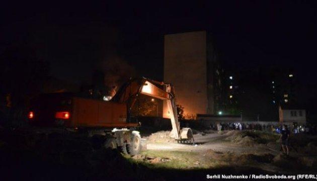 Активісти потрапили за паркан скандальної забудови у Києві
