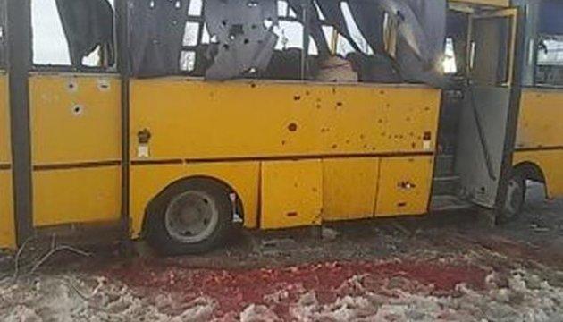 Під Волновахою встановили пам'ятний знак жертвам обстрілу бойовиками автобуса