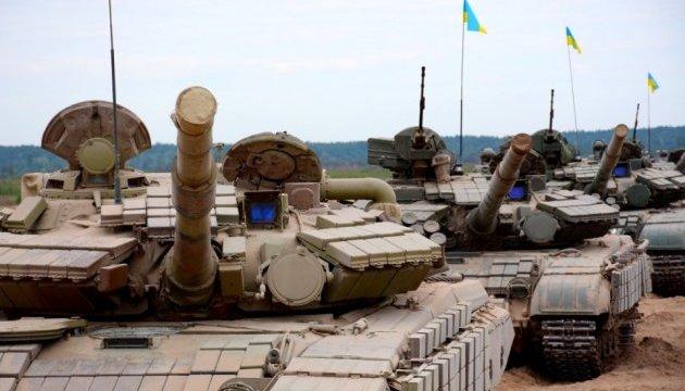 На Гончарівському полігоні пройшли навчання танкістів