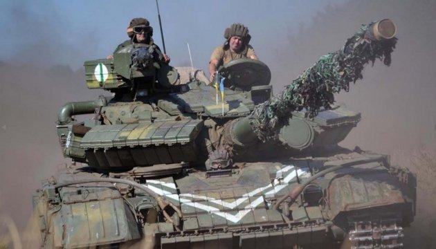 У зоні АТО відбулося танкове тренування Збройних сил України