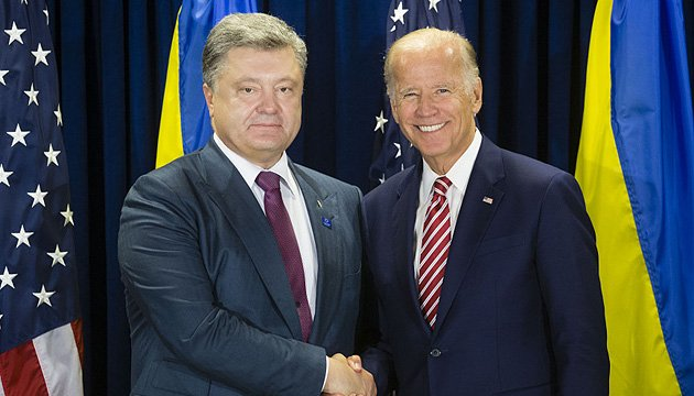 Joint statement by Biden and Poroshenko: Sanctions against Russia to stay until Minsk agreements fully implemented
