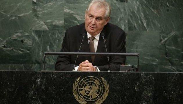 Президент Чехії стверджує, що він не є проросійським політиком