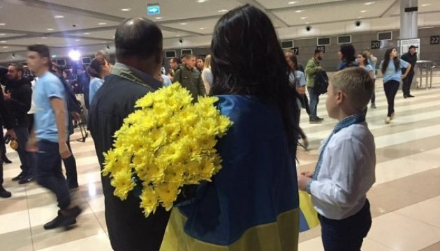 Ukrainian Paralympians return from Rio (photo, video)
