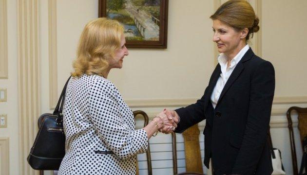Марина Порошенко обговорила з USAID зміну системи освіти в Україні