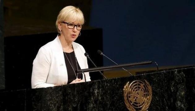 Швеция обещает твердо поддерживать европейское будущее Украины
