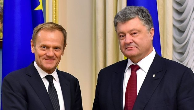 Poroshenko, Tusk coordinate schedule of Association Agreement's entry into force