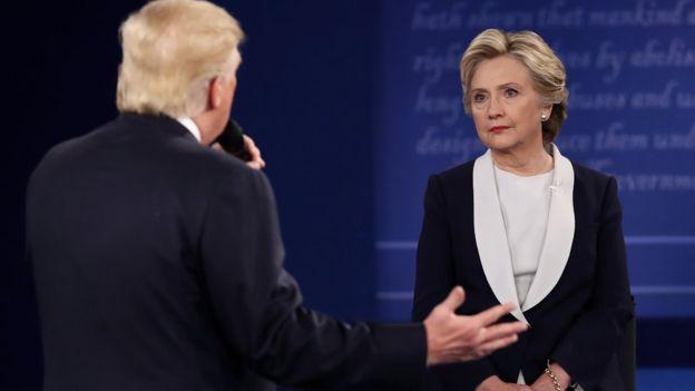 Дональд Трамп і Хіларі Клінтон, фото - BBC.com