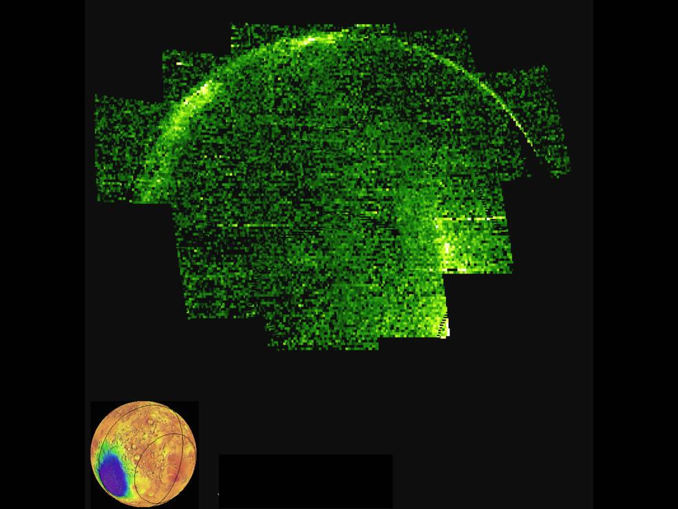 Ультрафиолетовое излучение на ночной стороне Марса