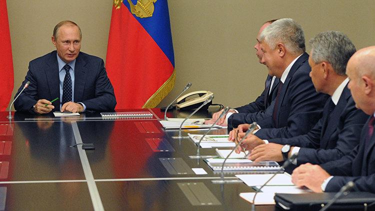 На фото: засідання Радбез РФ