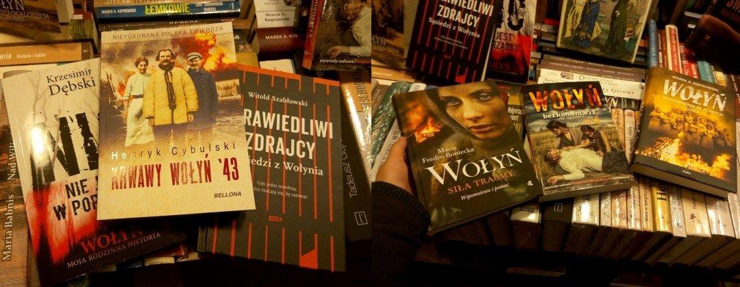 Книги про Волинську трагедію, книгарня Гданська. Фото: Оксана Ускова - кореспондент