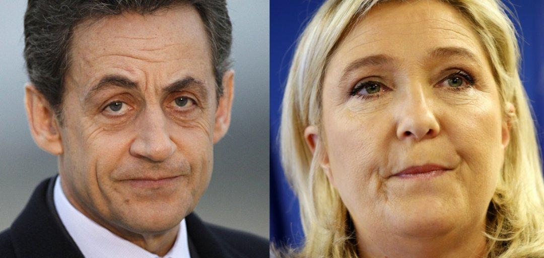 На фото: Ніколя Саркозі і Марін Ле Пен