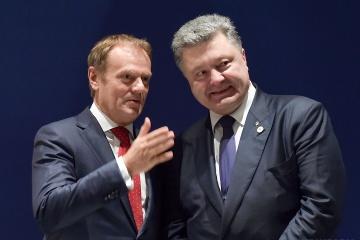 Tusk felicita a Poroshenko por alcanzar la segunda vuelta de las presidenciales