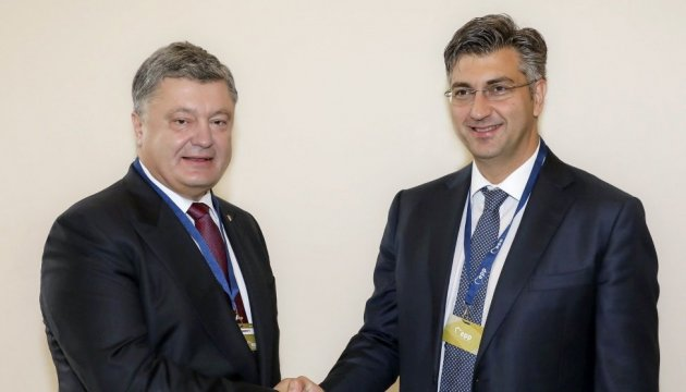 Poroshenko, Plenkovic discuss Ukraine's participation in Croatia's energy projects
