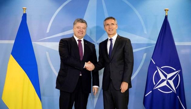 Poroshenko, Stoltenberg discuss Ukraine's preparation for NATO Summit