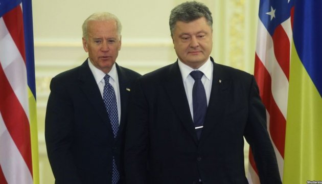 Poroshenko informs US Vice President Biden about results of Normandy format talks