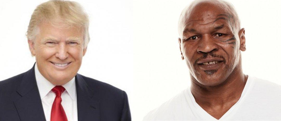 На фото: кандидат у президенти США Дональд Трамп і американський боксер професіонал Майк Тайсон