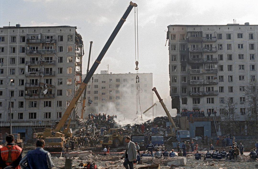На фото: наслідки теракту в Москві, 8-ме вересня 1999 року