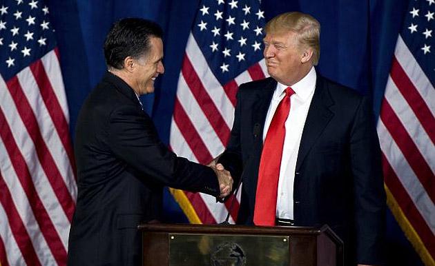 Мітт Ромні, Дональд Трамп