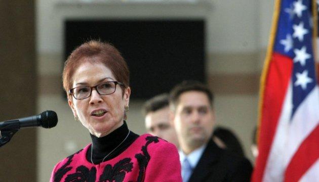 Yovanovitch says Washington will continue to support NABU, SAPO despite scandal