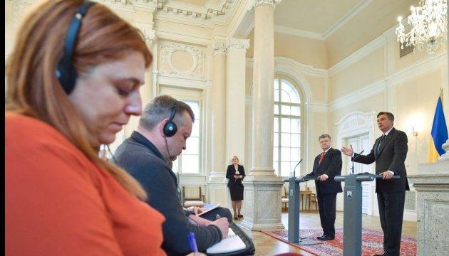 Poroschenko: Warenumsatz zwischen der Ukraine und Slowenien letztes Jahr um 31 % gewachsen