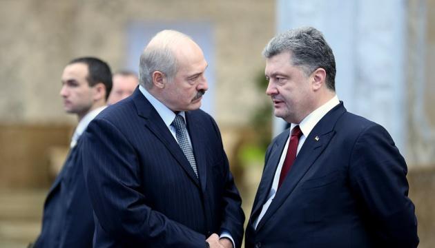 Порошенко поговорив із Лукашенком