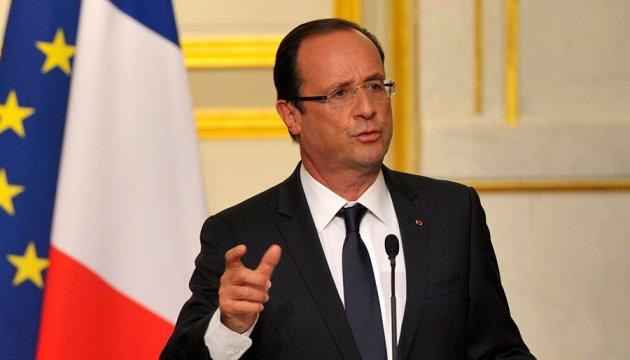 Олланд виступив за введення миротворців на кордоні між Україною та Росією