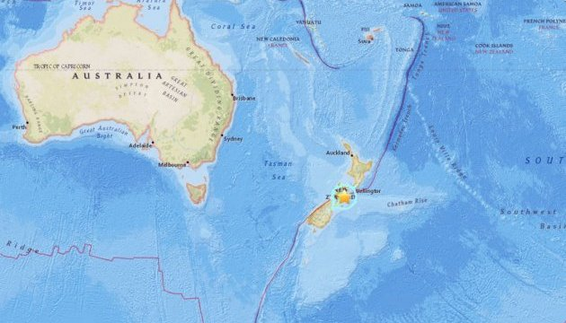 В Новой Зеландии снова сильное землетрясение - третье за сутки
