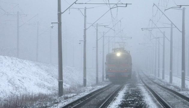 Потяги курсують за розкладом попри негоду, лише один Інтерсіті