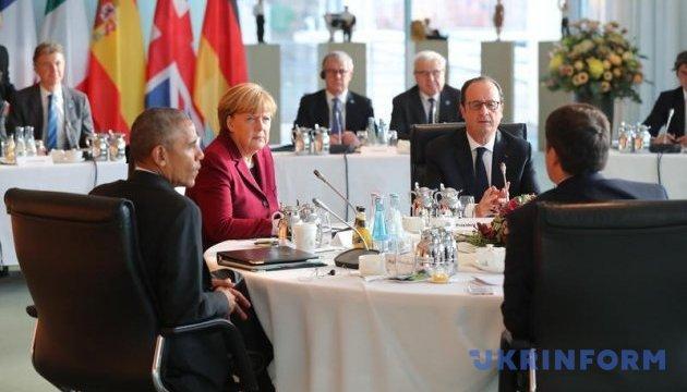 В Берлине началась встреча пяти европейских лидеров с Обамой