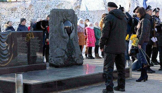 У Боярці відкрили меморіал загиблим в АТО поліцейським