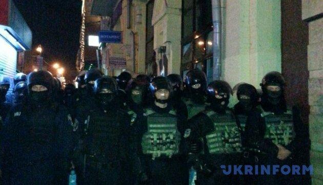 Натовп, що погромив дві установи в центрі Києва, розсмоктався