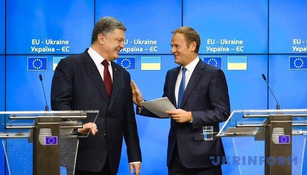 Усі країни ЄС визнали, що Україна готова до безвізового режиму - Туск