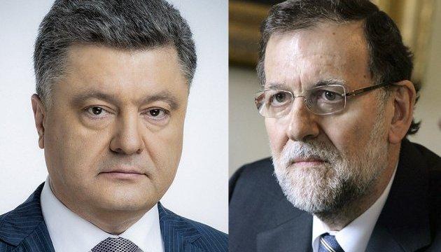 Порошенко привітав Рахоя з обранням на посаду прем'єра Іспанії