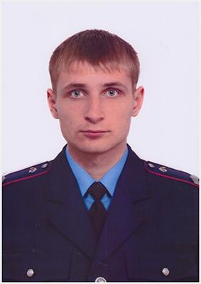 молодший інспектор Броварського міжрайонного відділу  Управління поліції охорони старший сержант поліції Євген Куртєв