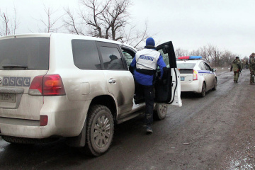 OSCE records over 360 explosions in Donbas over past weekend