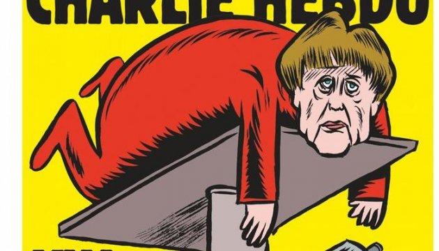 Вышел первый немецкий выпуск Charlie Hebdo с Меркель на обложке