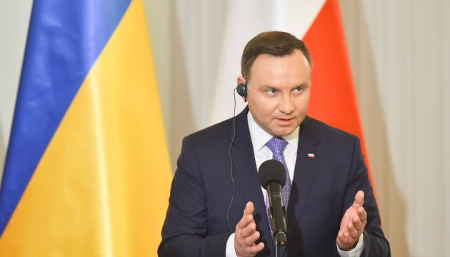 President Duda: Poland supports anti-Russian sanctions over aggression in Ukraine