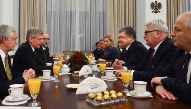 Президент  України провів зустріч з маршалком Сенату Республіки Польща