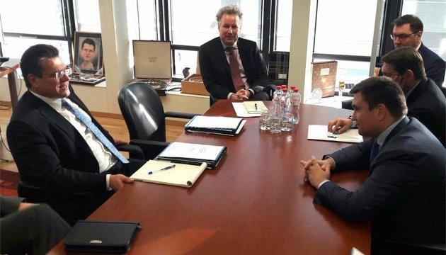 Газові переговори в Брюсселі: Клімкін і Шефчович скоординували позиції