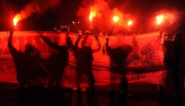Украинцы Польши протестуют против украинофобии на марше в Перемышле