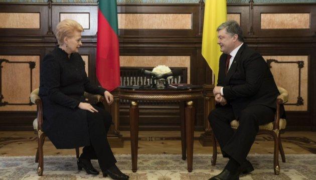 Президенти України й Литви підписали дорожню карту на 2017-2018 роки