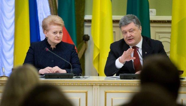 Український виробник міг би заходити на ринки ЄС через Литву - Порошенко
