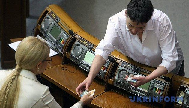 Савченко написала заяву про вихід з «Батьківщини»