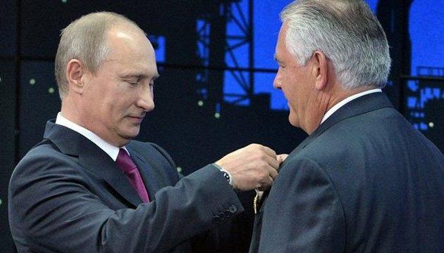 З англомовної Вікіпедії зникло нагородження Тіллерсона орденом РФ