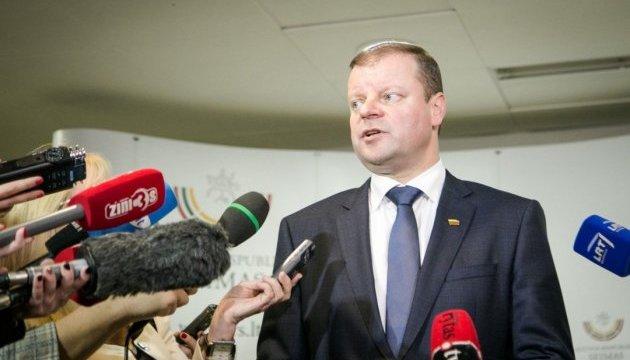 Прем'єр Литви відвідає Київ і Донецьку область