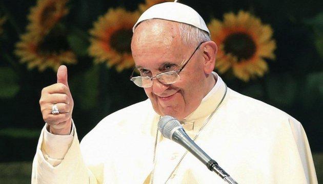 Ювілей Папи Римського: безхатченки прийшли на сніданок до Франциска з соняшниками