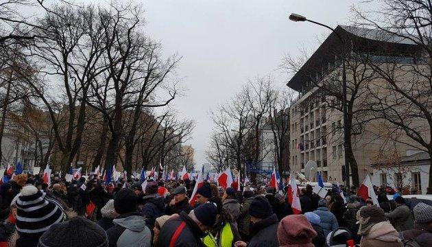 Польська опозиція зібрала кількатисячний мітинг