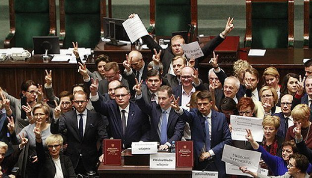 Польська опозиція й надалі блокуватиме трибуну Сейму