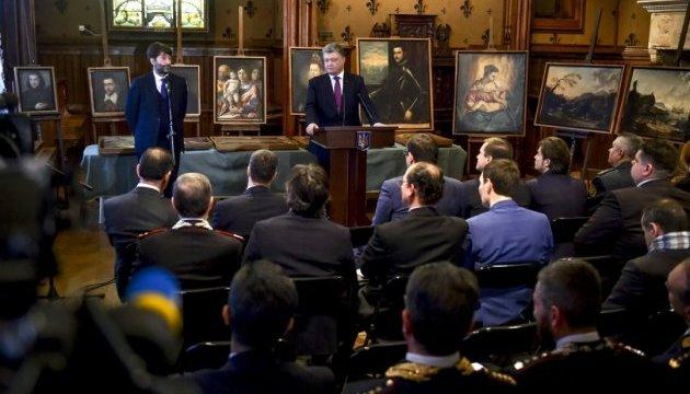 Врятовані скарби Італії: Порошенко передав музею Верони 17 картин