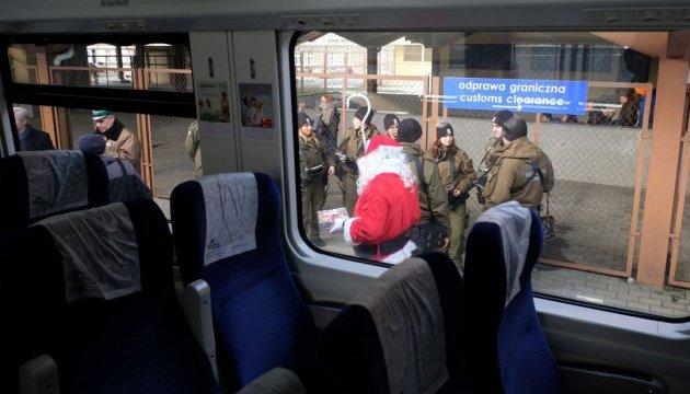 У Перемишлі потяг Інтерсіті зустрів Санта Клаус